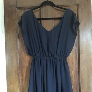 Blue mini dress for wedding guest